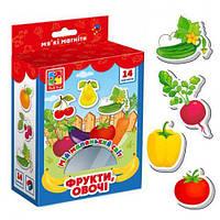 """Магниты """"Мой маленький мир: Овощи и фрукты"""" (укр) VT3106-11"""