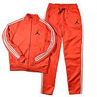 Мужской спортивный костюм, чоловічий костюм (эластика с лампасами) Air Jordan S378, Реплика