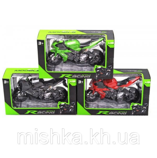 Мотоцикл метал (коробка, 3 види) HX794-1 р. 21,5 * 12 * 7 див. (Мас)