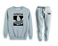 Мужской спортивный костюм, чоловічий костюм (свитшот+штаны) Adidas S489, Реплика