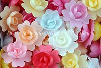 Вафельные цветы «Шиповник махровый микс» 70 шт