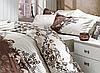 Скидка 40% на постельное белье из поплина двуспальное евро