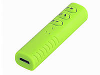 Беспроводной приемник Bluetooth 4.1 аудио AUX 3.5 mm для наушников/колонок/авто (пульт + микрофон)  Зеленый