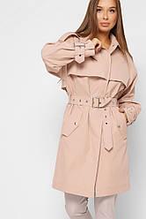 Модный женский демисезонный плащ-тренч в 2х цветах LS-8859