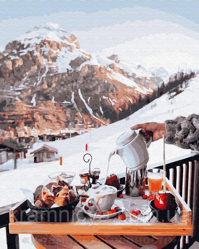 Картина по номерам Brushme 40х50 Завтрак у швейцарских гор (GX26239)