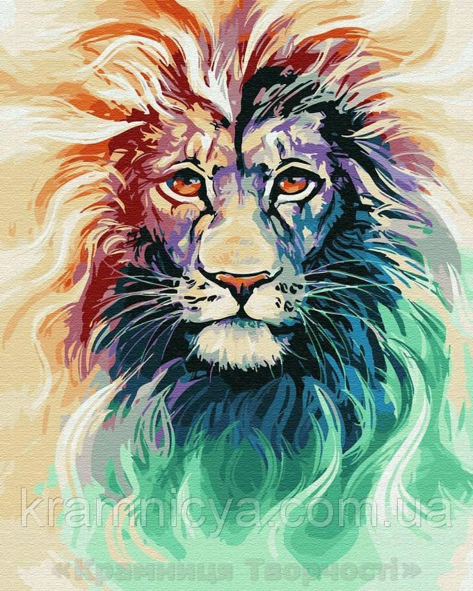Картина по номерам Brushme 40х50 Сияние льва (GX28718)