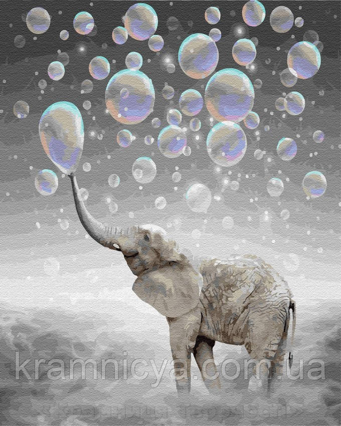 Картина по номерам Brushme 40х50 Слон в облаках (GX28776)