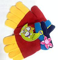 Перчатки для девочки, бантик.