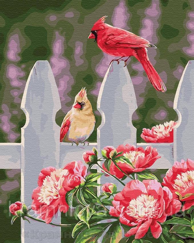 Картина по номерам Brushme 40х50 Розовые птички (GX29108)