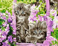 Картина по номерам Brushme 40х50 Котята в корзинке (GX29109), фото 1