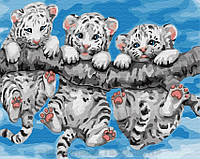 Картина по номерам Brushme 40х50 Маленькие тигрята (GX29308), фото 1