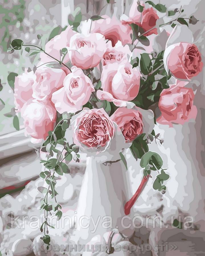 Картина по номерам Brushme 40х50 Букет нежных роз (GX29390)
