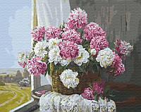 Картина по номерам Brushme 40х50 Букет пионов у окна (GX29430), фото 1