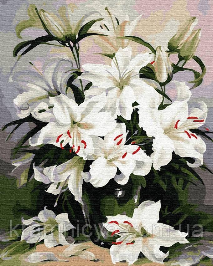 Картина по номерам Brushme 40х50 Нежные лилии (GX29431)