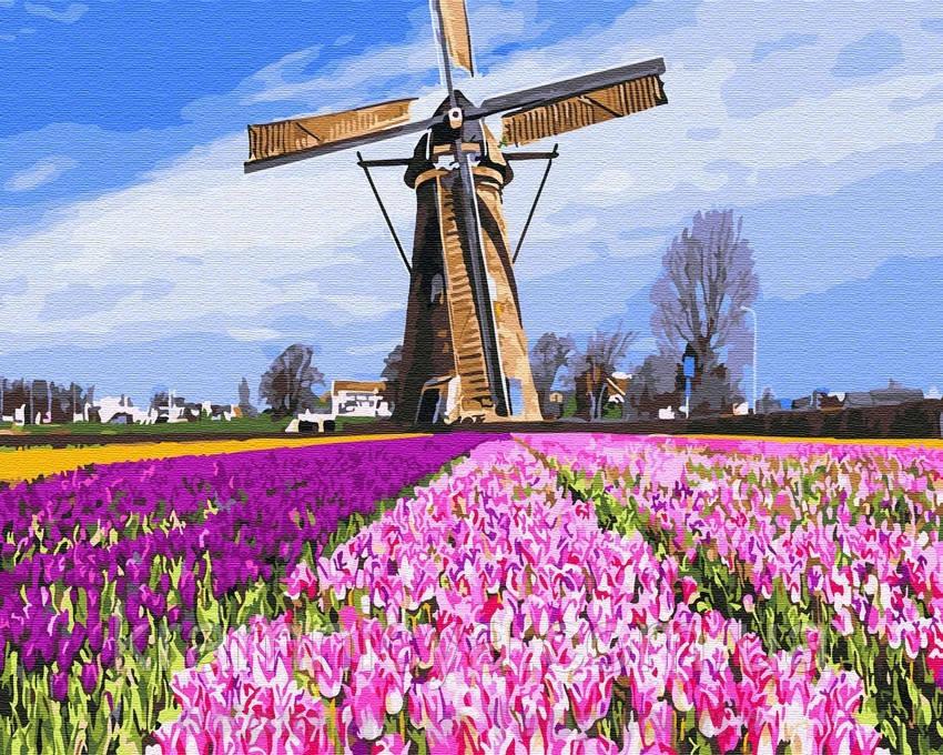 Картина по номерам Brushme 40х50 Голландская мельницы (GX29433)