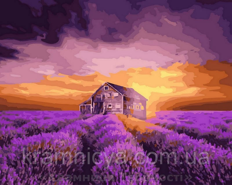 Картина по номерам Brushme 40х50 Лавандовый дом (GX29807)