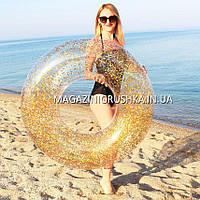 Надувной круг для плавания Intex Золотой диаметр 119 см 56274NP. Отлично подходит для отдыха на море