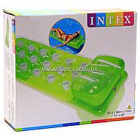 Надувной матрас Intex Зелёный с подголовником 58890, фото 1