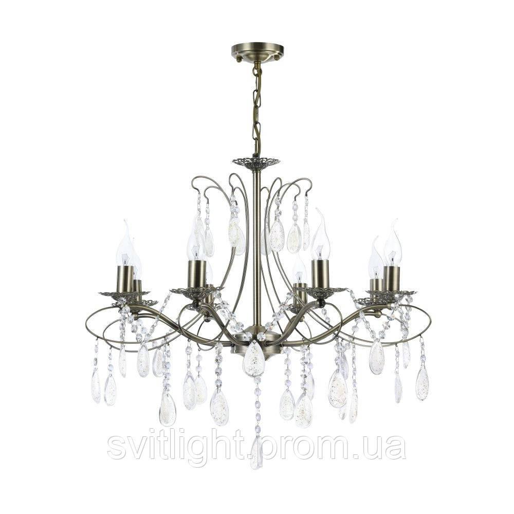 Люстра свечи бронза FR2320-PL-08-BS Freya. Подвесная люстра в классическом стиле украсит интерьер гостиной или