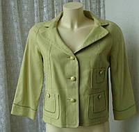Стильний Жакет жіночий куртка бавовна бренд Alain Manoukian р. 46-48, фото 1
