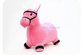 Прыгуны - лошадки в чехле MS 0325 цвет черно-белый Розовый