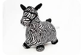 Прыгуны - лошадки в чехле MS 0325 цвет черно-белый Черно-белый