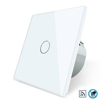 Бесконтактный радиоуправляемый выключатель Livolo белый стекло (VL-C701R-PRO-11)