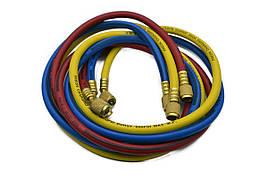 """Шланги для подключения системы кондиционирования к заправочной установке 1/4"""" SAE LICOTA (ATL-9047B)"""