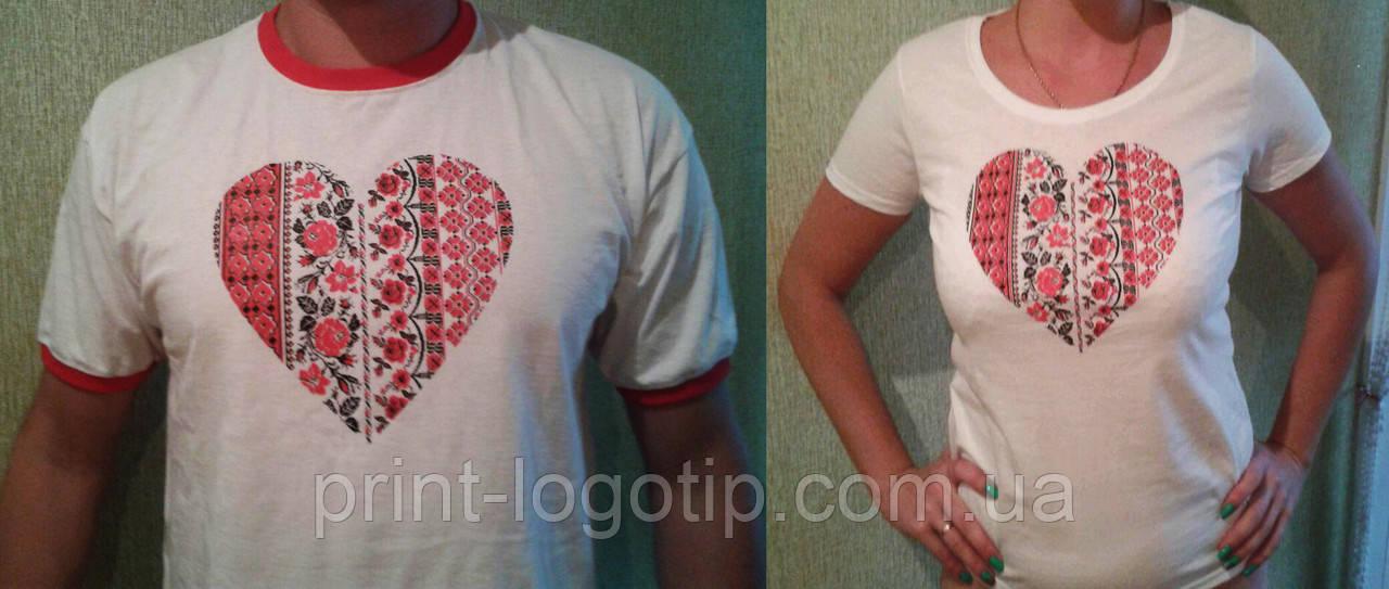 Печать и вышивка на футболках на заказ