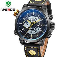 Часы WEIDE Sport Watches Premium Yellow 3401 для спорта многофункциональные с LED подсветкой желтые