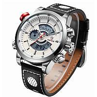 Часы WEIDE Sport Watches Premium White 3401 для спорта многофункциональные с LED подсветкой белые