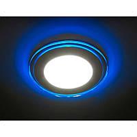 Светодиодный светильник Feron AL 2660 (8W)с зеркальной синей подсветкой, фото 1