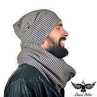 Набор шапка+шарф гусиные лапки, фото 1
