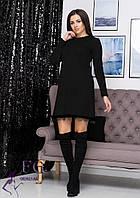 "Платье свободного кроя ""Galaxy""| Батал| Батал Черный, 50-52"