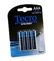Элементы питания (батарейки) ААА Tecro LR03-4B(EE)