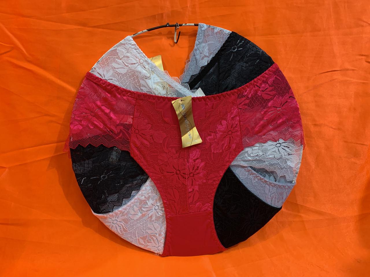 Трусы гипюр размер 48-52, один цвет в упаковке