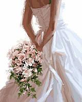 """VP 455 """"Букет невесты"""" Роспись по номерам на холсте 40х50см"""