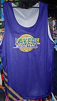 Форма баскетбольная Lakers взрослая двухсторонняя фиолетово белая размер 4XL