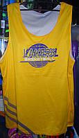 Форма баскетбольная  Lakers взрослая двухсторонняя желто-белая размер 3XL
