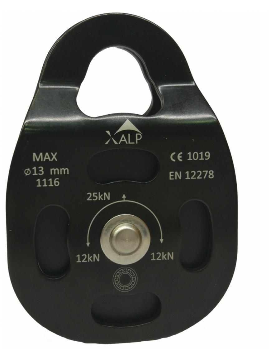 Блок-ролик X-Alp Pulley SS Alu Alloy AP080BKB
