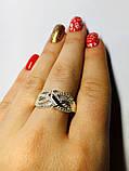 Кільце з золотом і фіанітами в сріблі Маріта, фото 4