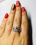 Кільце з золотом і фіанітами в сріблі Маріта, фото 5