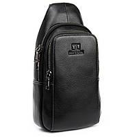 Рюкзак-сумка для стильных мужчин из натуральной кожи BRETTON (18*31*9 см), BE 2002-3 black