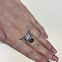 Кольцо с раух-топазом дымчатый кварц в серебре 19 размер. Кольцо с камнем раух-топаз Индия