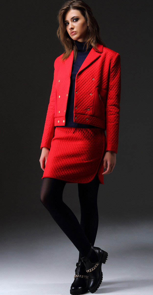 Куртка Nova Line-1631 белорусский трикотаж, красный, 42