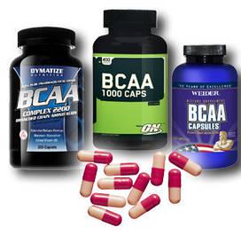 BCAA (L-лейцин, L-изолейцин, L-валин)