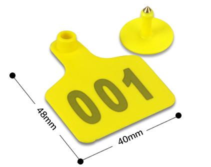 Ушные бирки для свиней 40х48 мм
