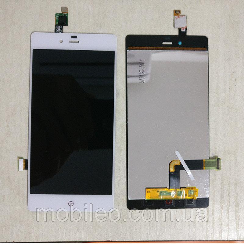 Дисплей (LCD) ZTE Nubia Z9 Mini с тачскрином, белый