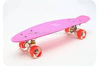 Пенни борд с бесшумными светящимися колесами 779-81 - розовый, фото 1