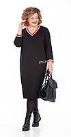 Платье Pretty-1000/1 белорусский трикотаж, черный, 56